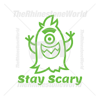 Stay Scary Vector Design
