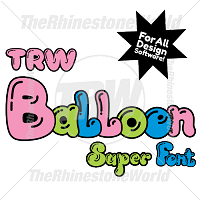 TRW Balloon Super Font With Alternate Chracters