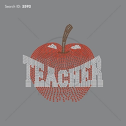 TEACHERS 101 Rhinestone Design - Pre-Cut Template