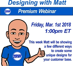 Designing with Matt - March 1st  2019