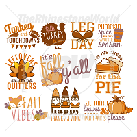 Thanksgiving Time Live Template SVG Mini Pack 2
