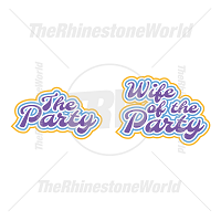 The Party And The Wife Vector Design