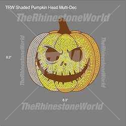 TRW Shaded Pumpkin Face Multi-Dec