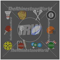 Rhinestone Sports Decal Assortment Mini Pack 1