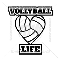 Volleyball Life Free Vector Design