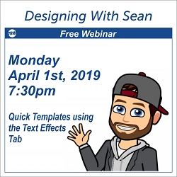 Designing with Sean - April 1, 2019
