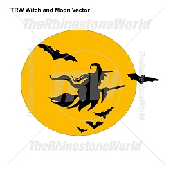 TRW Witch and Moon Vector Design