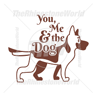 You Me And The Dog Vector Design