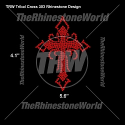 TRW Tribal Cross 303 Rhinestone Design