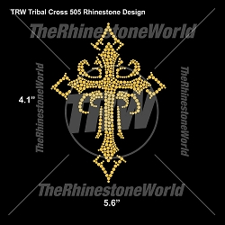 TRW Tribal Cross 505 Rhinestone Design