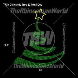 TRW Christmas Tree 33 Multi-Dec