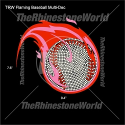 TRW Flaming Baseball Multi-Dec