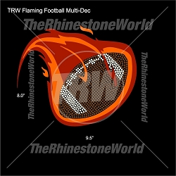 TRW Flaming Football Multi-Dec
