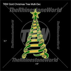 TRW Golden Christmas Tree Multi-Dec