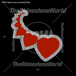 TRW Heart Love Line Multi-Dec