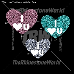 TRW I Love You Hearts Multi-Dec Pack