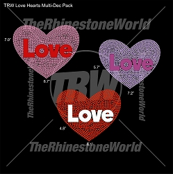 TRW Love Hearts Multi-Dec Pack