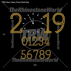 TRW New Years Clock Multi-Dec