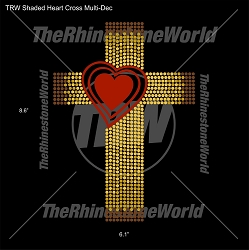 TRW Shaded Heart Cross Multi-Dec