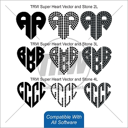 TRW Super Mono Heart Rhinestone & Vinyl for All Software - Download