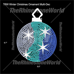 TRW Winter Christmas Ornament Multi-Dec