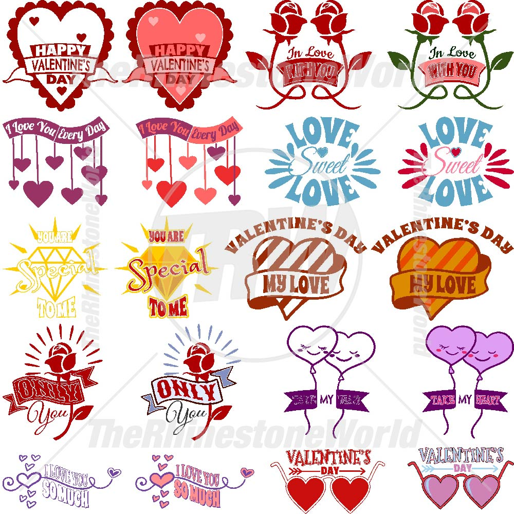 Valentines Live Template Mini Pack 4
