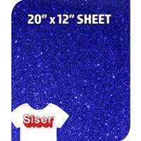 Siser Glitter HTV - Royal Blue