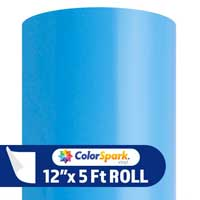 ColorSpark Permanent Adhesive Vinyl - Sky Blue (12'' x 5-ft Roll)
