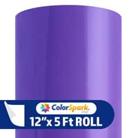 ColorSpark Permanent Adhesive Vinyl - Violet (12'' x 5-ft Roll)