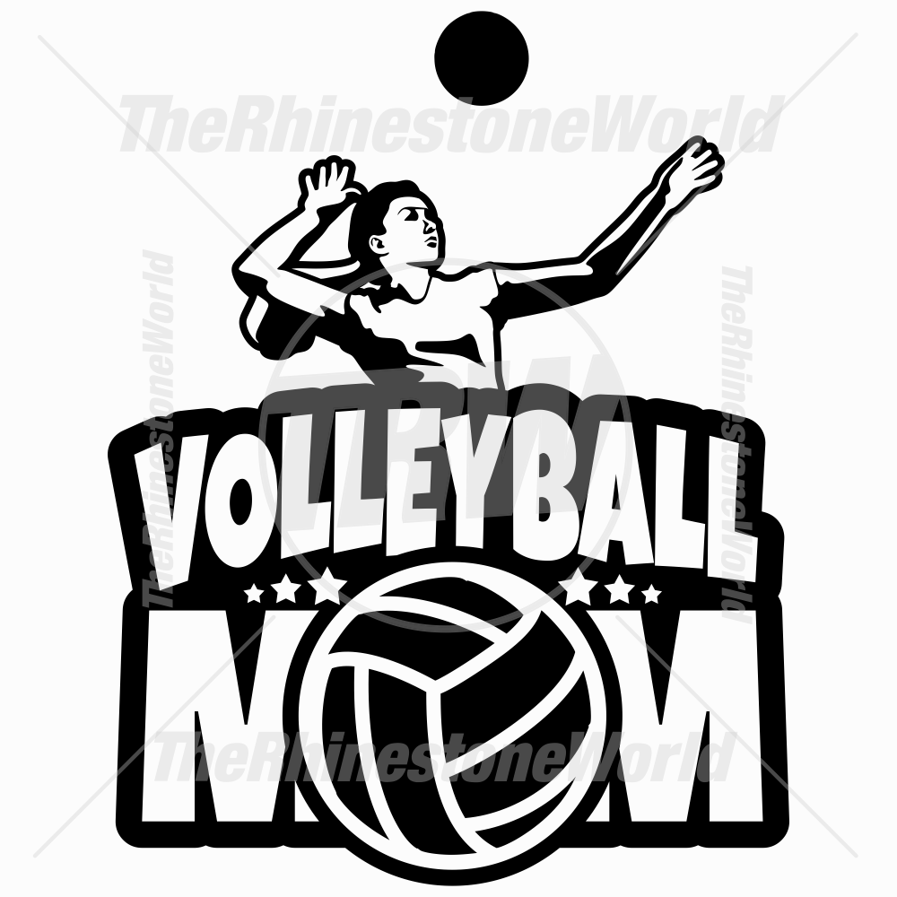 Volleyball Mom Vector Decal 01