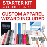 YouTube Custom Apparel Business Starter Kit - Wizard included