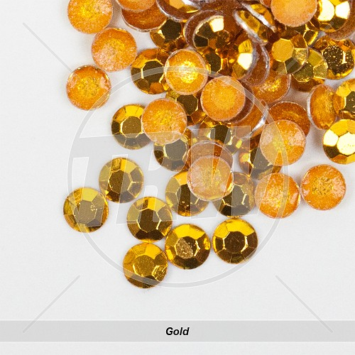 Basic Hot-Fix Gold SS10 Rhinestuds 500-Gross