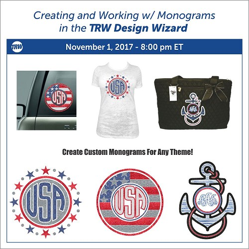 Creating and Working w/ Monograms - November 1st, 2020