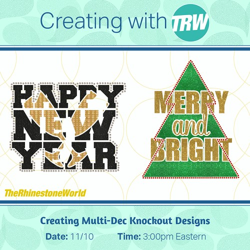 Creating Multi-Dec Knockout Designs in Silhouette - November 10th, 2017