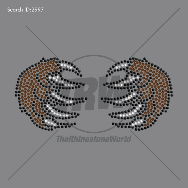 3 Color BEAR CLAW Rhinestone Design - Pre-Cut Template