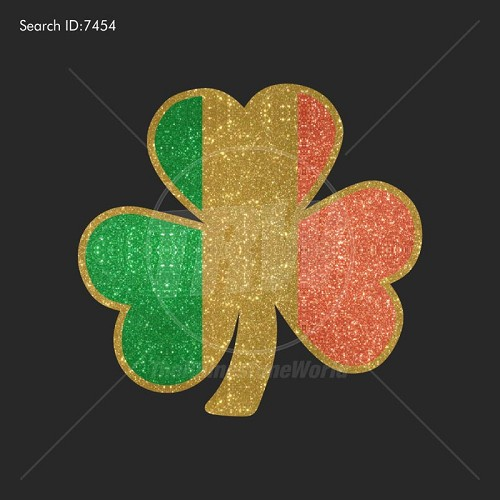 3 Color Irish Clover Vector Design - Download