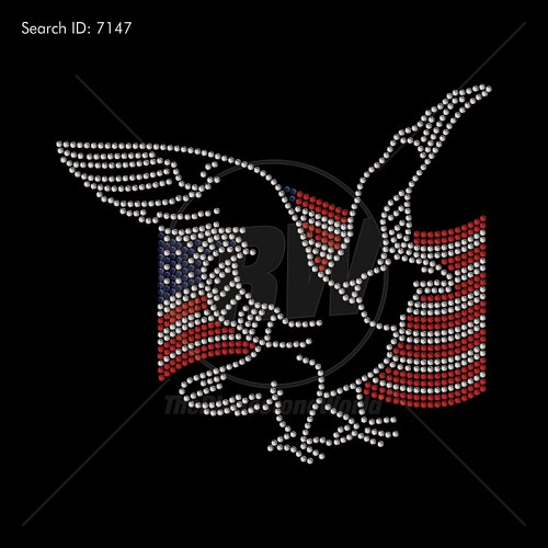 American Flag Eagle Rhinestone Design - Download