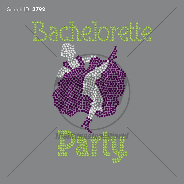 Bachelorette Party 33 Rhinestone Design - Download