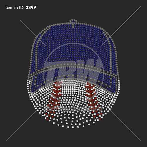 Baseball Fade 99 Rhinestone Design - Pre-Cut Template