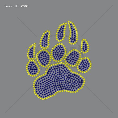 Bear Paw 2 Rhinestone Design - Download
