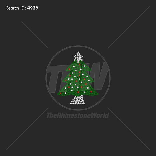 Christmas Tree 2 Rhinestone Design - Download