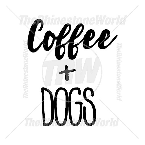 Coffee and Dogs Vector Artwork Design - Download
