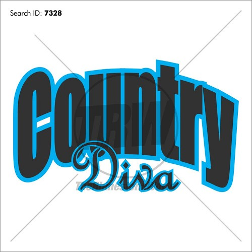 Country Diva 12 Heat Transfer Vinyl Design - Download