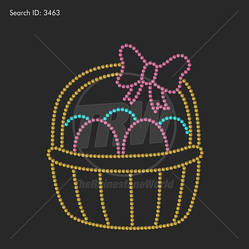 Easter Basket Rhinestone Design - Download