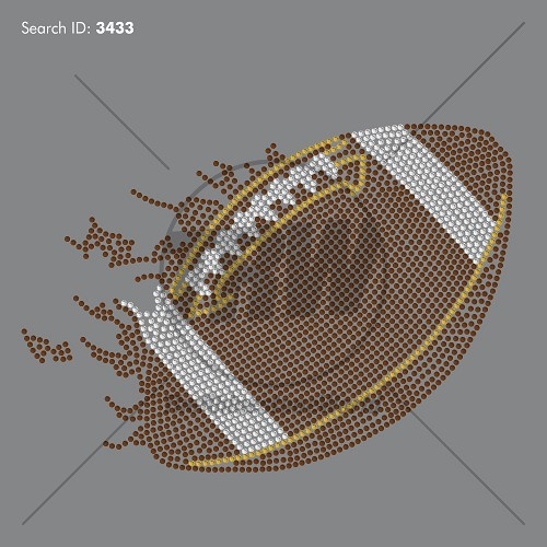 Football Flame 55 Rhinestone Design - Download