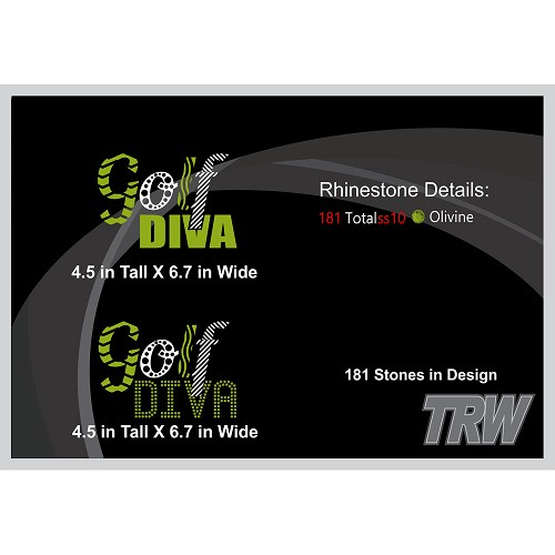 Golf Diva HTV and Multi-Dec Pack  - Download