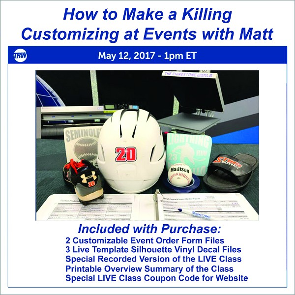 5/12/17 - How to make a Killing Customizing at Events