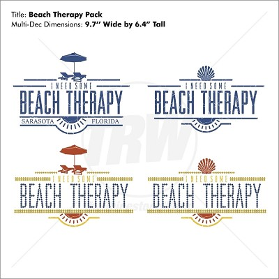I Need Some Beach Therapy Multi-Decoration Design Pack - Download