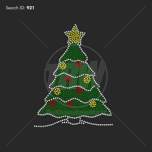 Large Holiday Tree Rhinestone Design - Download