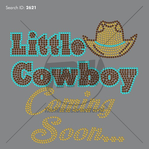 Little Cowboy Coming Soon Rhinestone Design - Download